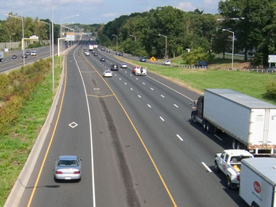 I-91 in Hartford, Connecticut