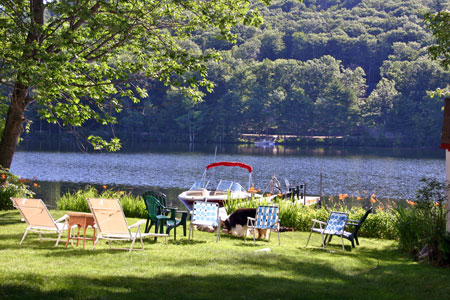 Back yard and Lake