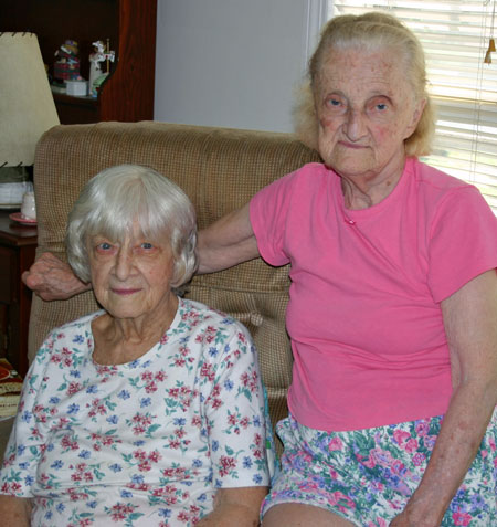 Mom and her sister, Catherine Shebell