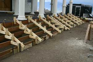 South Portico Steps Wooden Forms Are Constructed For The Concrete ...