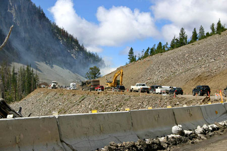 Road Construction in Yellowstone Park